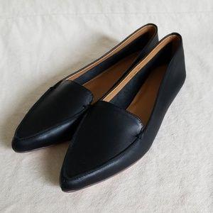 J Crew // NWOT Black Pointed Toe Flats